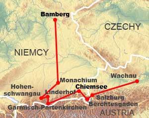 Niemiec bawaria mapa Bawaria, Niemcy